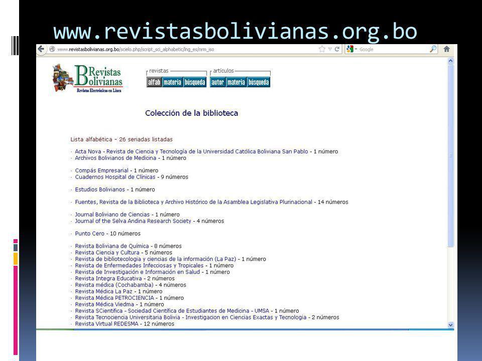www.revistasbolivianas.org.bo