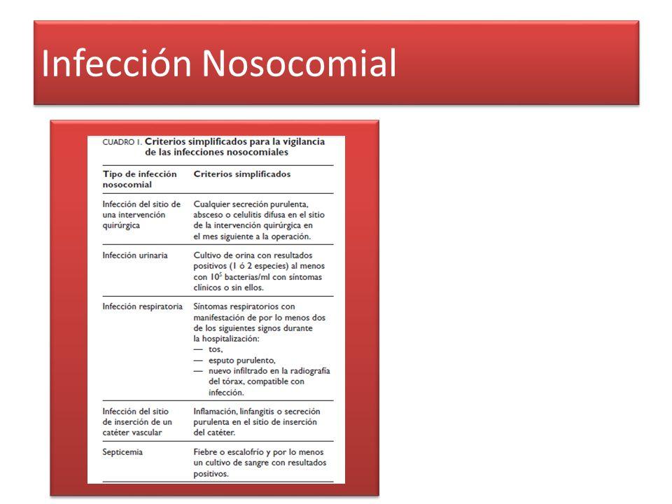 Infección Nosocomial
