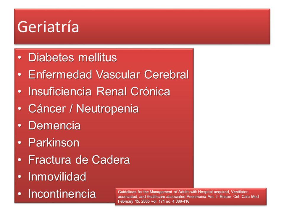 Geriatría Diabetes mellitusDiabetes mellitus Enfermedad Vascular CerebralEnfermedad Vascular Cerebral Insuficiencia Renal CrónicaInsuficiencia Renal C