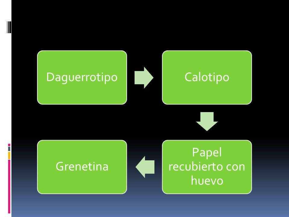 DaguerrotipoCalotipo Papel recubierto con huevo Grenetina
