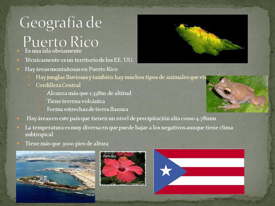 El país es archipiélago Hay sistemas montañosos Sierra de Guaniguanico (Pinar del Río) Hasta 400 metros de altitud Sierra de Rosario Altitud promedio