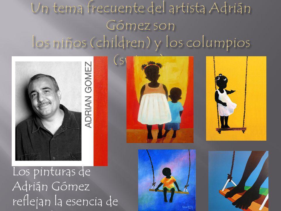 Los pinturas de Adrián Gómez reflejan la esencia de pura vida.