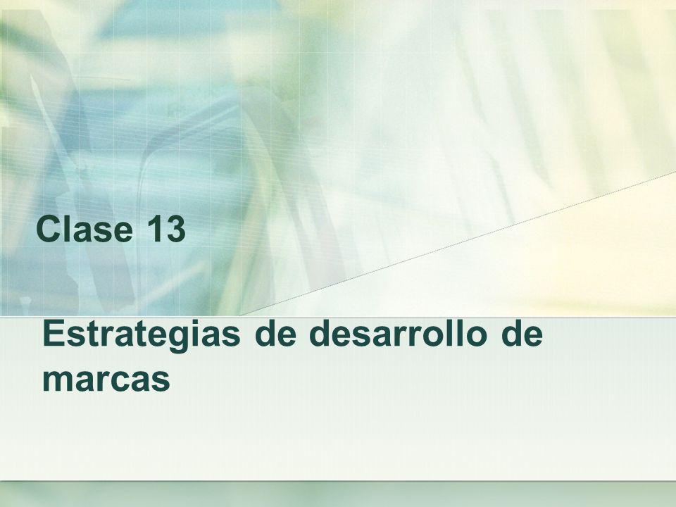 Estrategias de desarrollo de marcas Clase 13