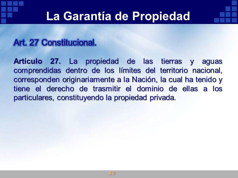La Garantía de Propiedad 12