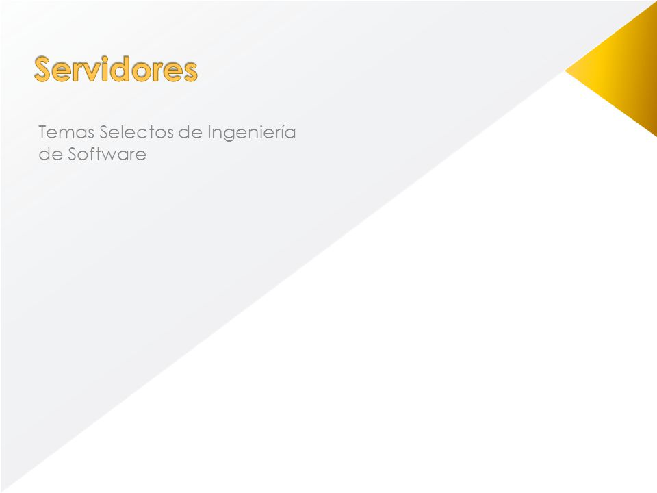 Un servidor es una computadora que, formando parte de una red, provee servicios a otras computadoras denominadas clientes.