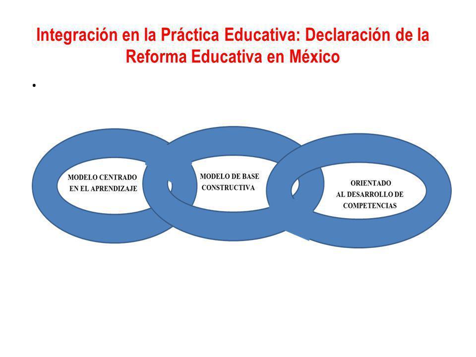 Integración en la Práctica Educativa: Declaración de la Reforma Educativa en México.