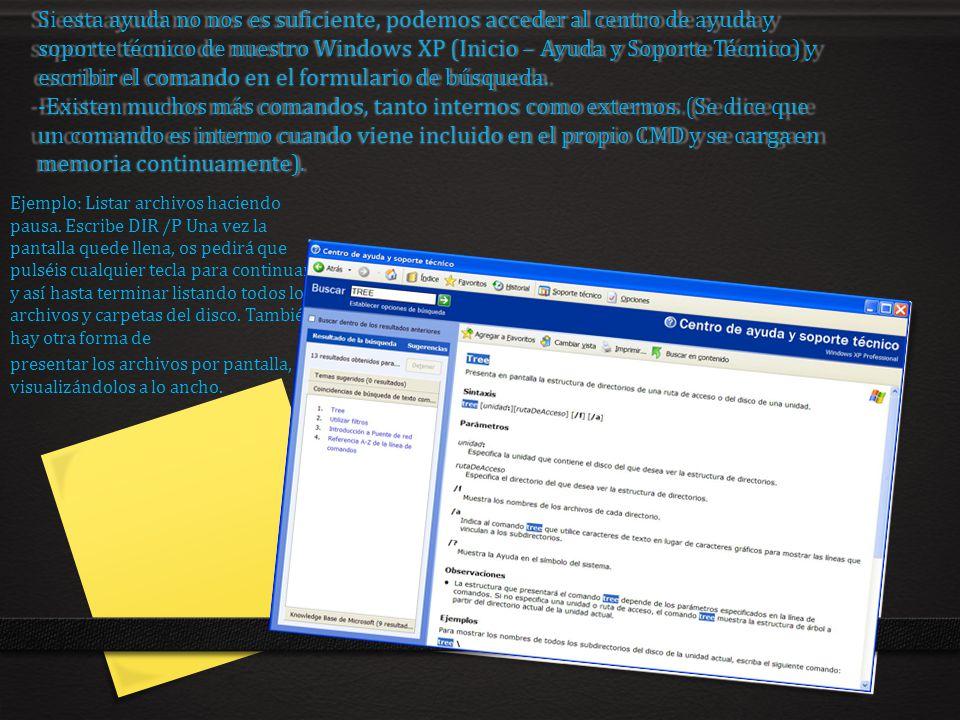 Si esta ayuda no nos es suficiente, podemos acceder al centro de ayuda y soporte técnico de nuestro Windows XP (Inicio – Ayuda y Soporte Técnico) y es