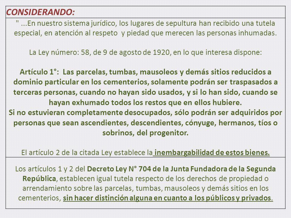 CONSIDERANDO: