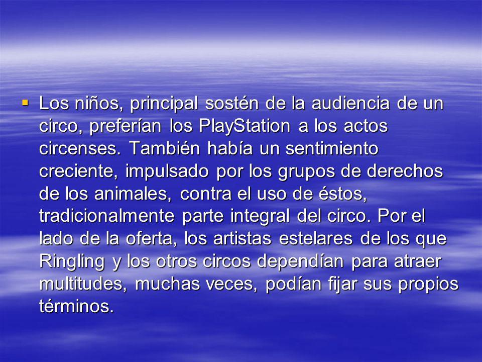 Los niños, principal sostén de la audiencia de un circo, preferían los PlayStation a los actos circenses.