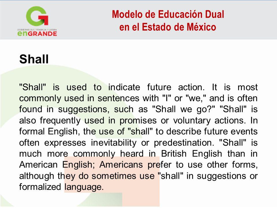 Modelo de Educación Dual en el Estado de México Shall