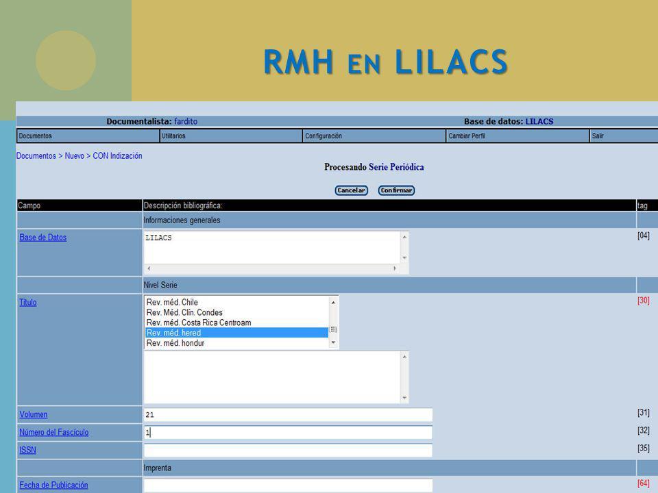 RMH EN LILACS