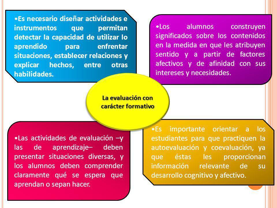 Es importante orientar a los estudiantes para que practiquen la autoevaluación y coevaluación, ya que éstas les proporcionan información relevante de