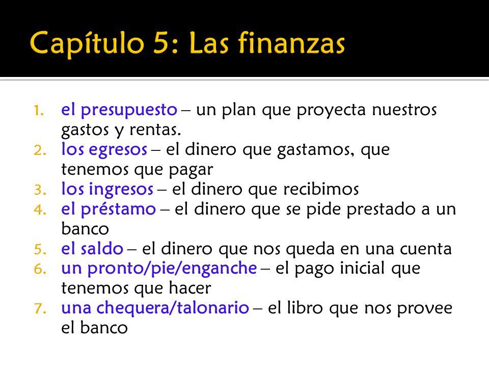 1.el presupuesto – un plan que proyecta nuestros gastos y rentas.