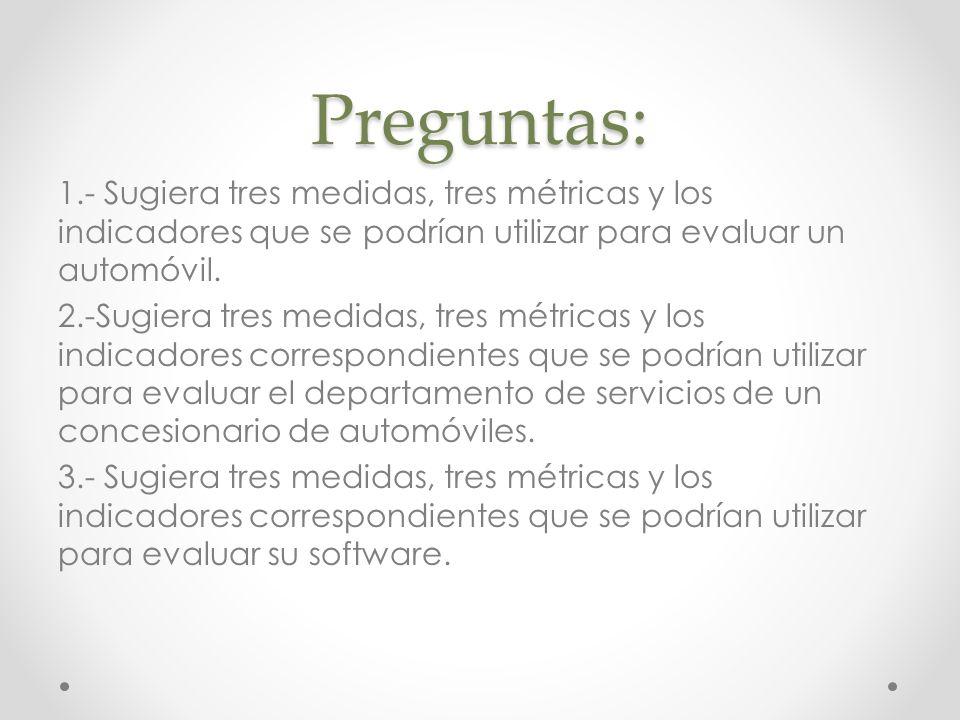 Mediciones del Software Pueden englobarse en dos categorías: medidas directas y medidas indirectas.