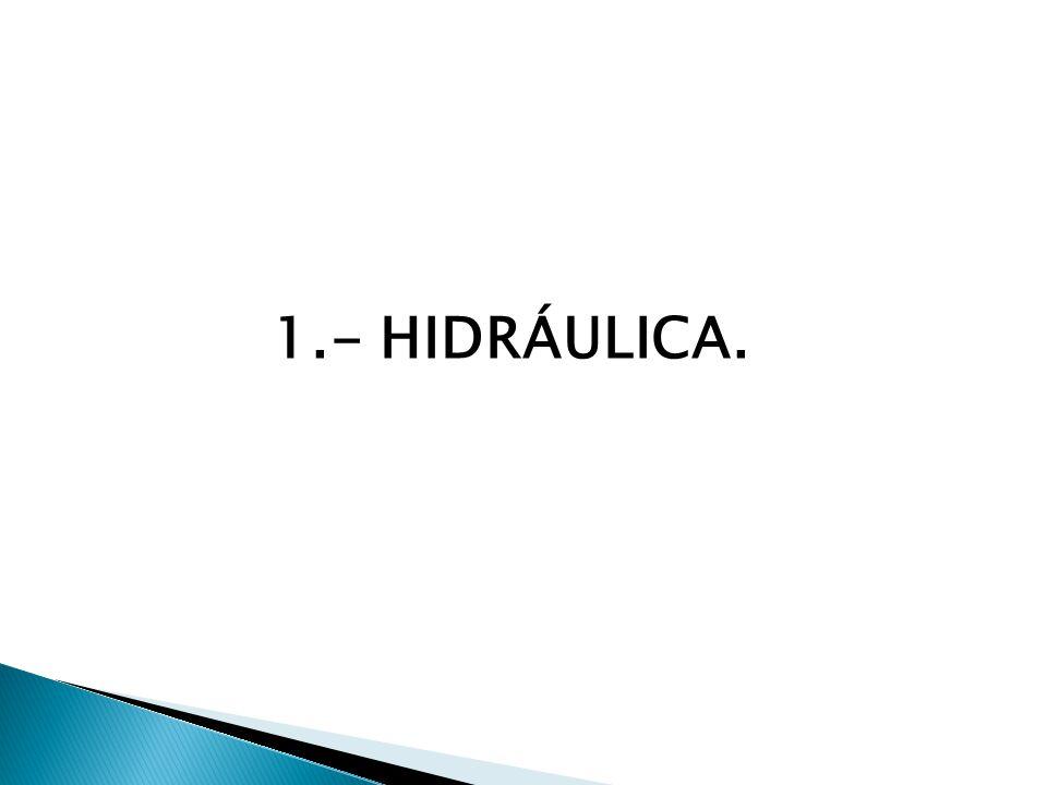 1.- HIDRÁULICA.
