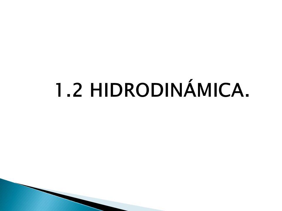 1.2 HIDRODINÁMICA.