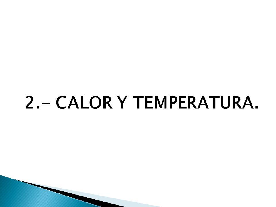 2.- CALOR Y TEMPERATURA.