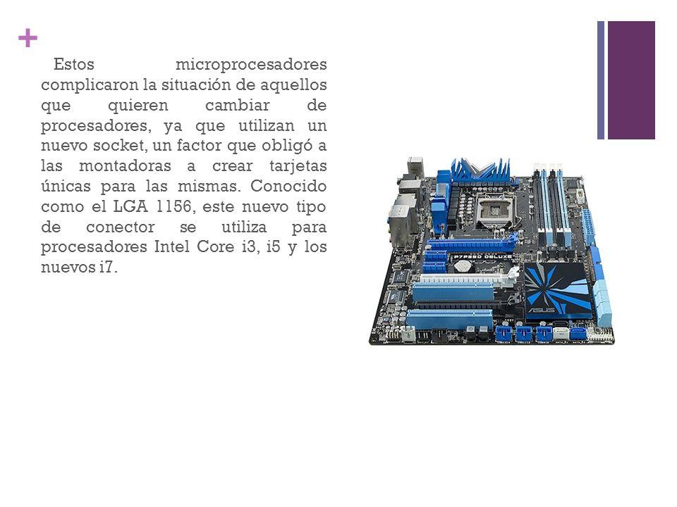 + Estos microprocesadores complicaron la situación de aquellos que quieren cambiar de procesadores, ya que utilizan un nuevo socket, un factor que obl