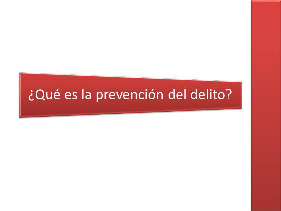 ¿Qué es la prevención del delito?