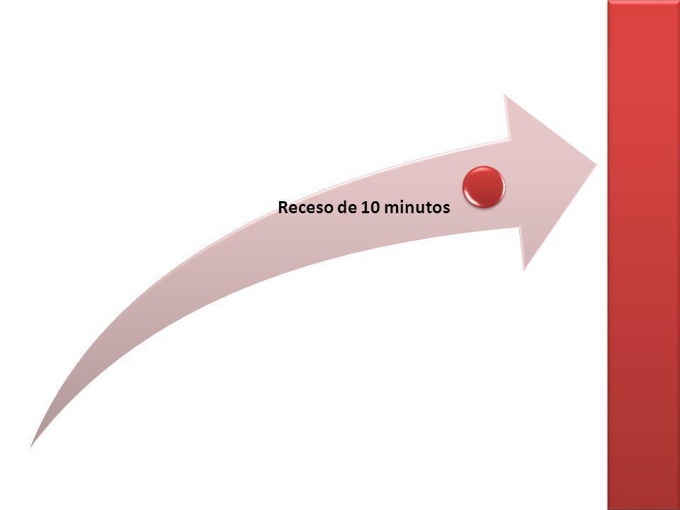 Receso de 10 minutos