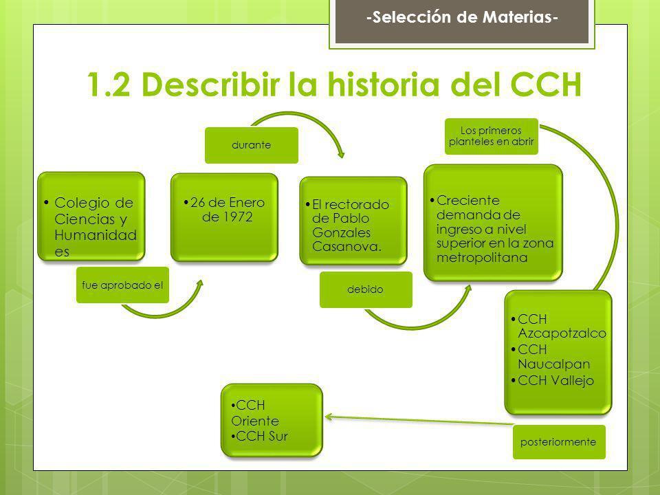 Colegio de Ciencias y Humanidad es fue aprobado el 26 de Enero de 1972 durante El rectorado de Pablo Gonzales Casanova. debido Creciente demanda de in