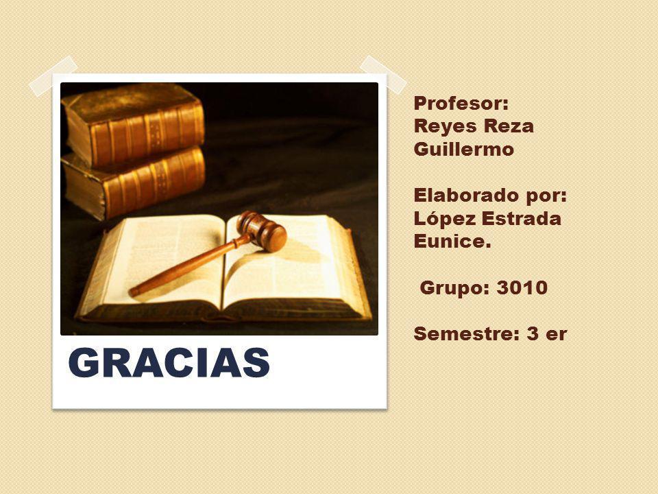 Profesor: Reyes Reza Guillermo Elaborado por: López Estrada Eunice. Grupo: 3010 Semestre: 3 er GRACIAS
