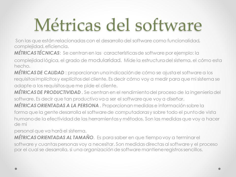 Las métricas del software orientadas al tamaño provienen de la normalización de las medidas de calidad y/o productividad considerando el «tamaño» del software que se haya producido.