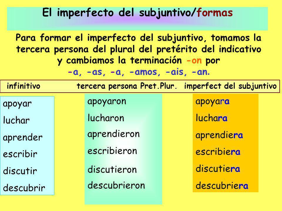 ¡OJO.Hay muchas formas irregulares de la tercer persona plural del pretérito.