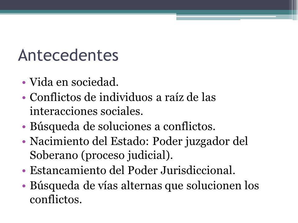 Antecedentes en Costa Rica 1994: Programa de Resolución Alternativa de Conflictos de la Corte Suprema de Justicia-USAID.