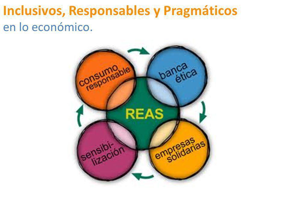 Inclusivos, Responsables y Pragmáticos en lo económico.