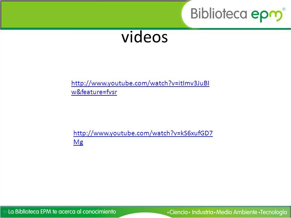 http://www.youtube.com/watch?v=itImv3JuBI w&feature=fvsr videos http://www.youtube.com/watch?v=kS6xufGD7 Mg