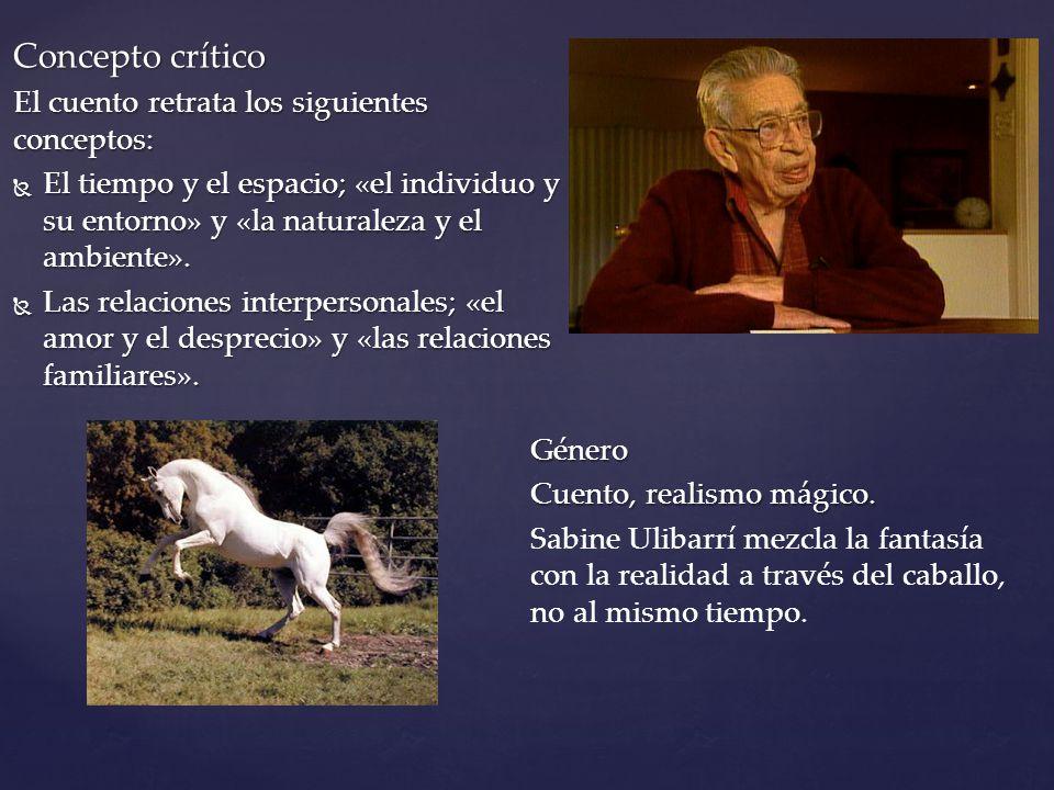 Tema Central La transición de un niño a la adolescencia, cambia de personalidad por las experiencias con el caballo.