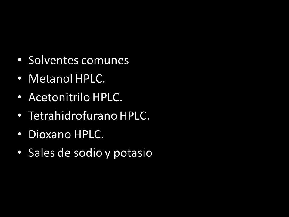 Solventes comunes Metanol HPLC.Acetonitrilo HPLC.