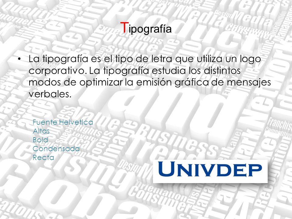 T ipografía La tipografía es el tipo de letra que utiliza un logo corporativo. La tipografía estudia los distintos modos de optimizar la emisión gráfi