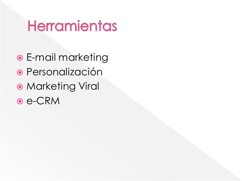 E-mail marketing Personalización Marketing Viral e-CRM