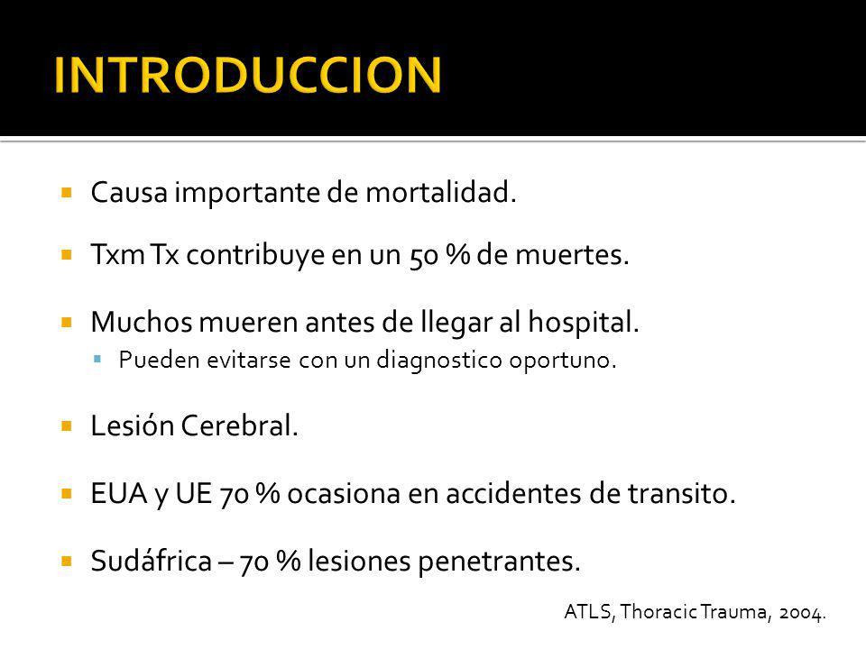 Identificar y tratar la 12 lesiones torácicas mas comunes y que ponen en peligro la vida.