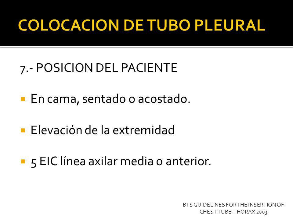 8.- CONFIRAMAR EL SITIO DE COLOCACION Radiografía de tórax previa.