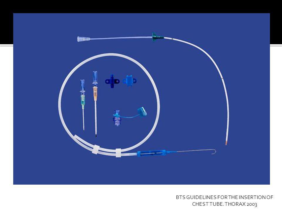 1.- Determinar sitio de inserción.5 to EIC, línea medio axilar.