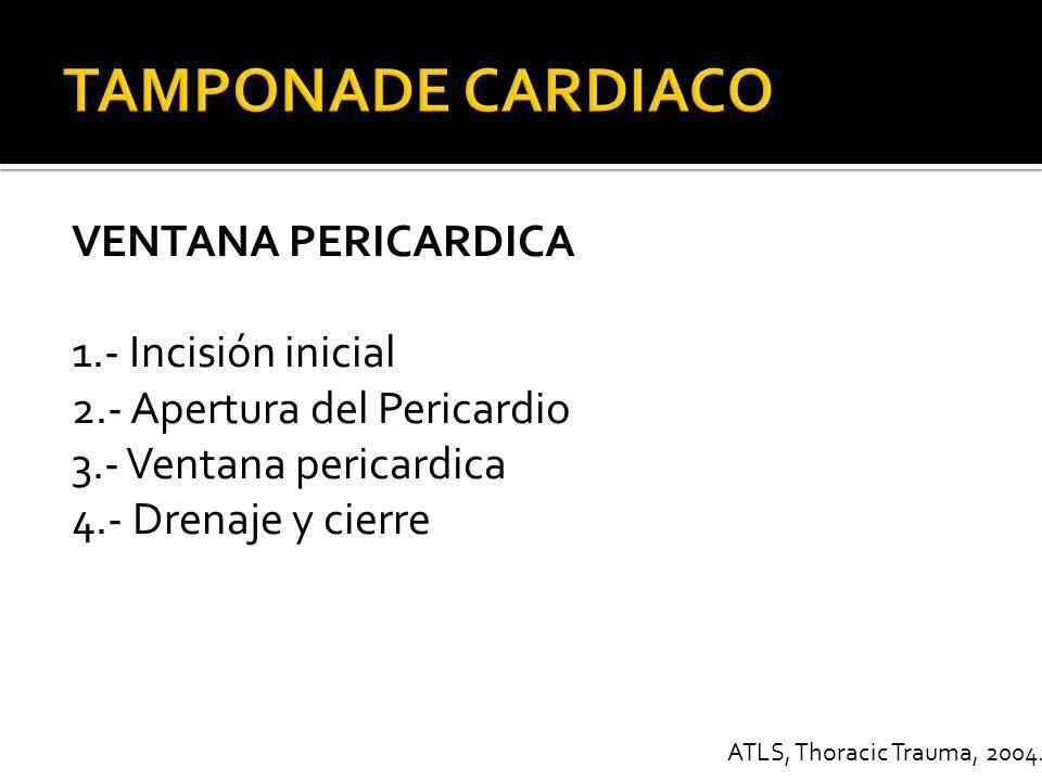 ACS 2006. CHEST TRAUMA TAMPONADE CARDIACO