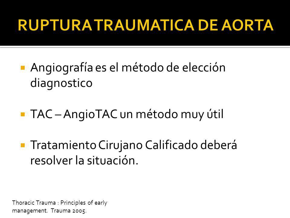 Trauma.org TELE DE TORAX + SNG MEDIASTINO NORMALMEDIASTINO ANORMAL ALTO ANGIO-TAC ALTO NORMAL ANORMAL ANGIOGRAFIA
