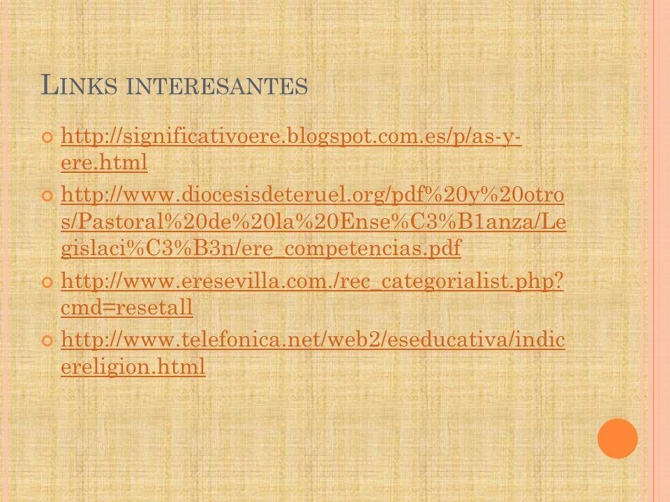 L INKS INTERESANTES http://significativoere.blogspot.com.es/p/as-y- ere.html http://significativoere.blogspot.com.es/p/as-y- ere.html http://www.dioce