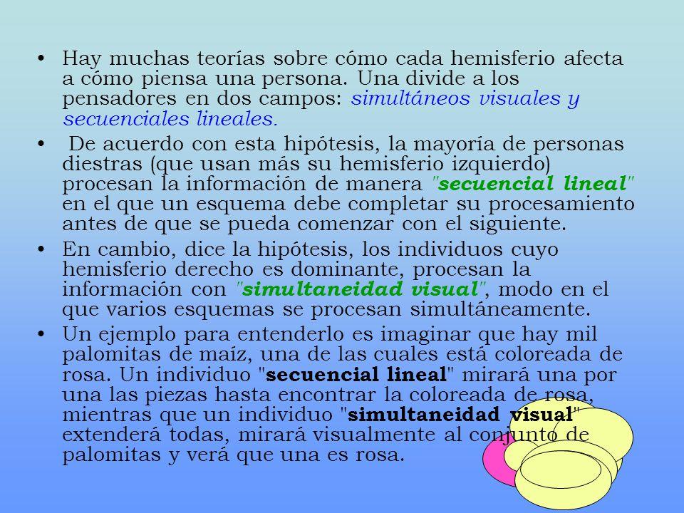 Hay muchas teorías sobre cómo cada hemisferio afecta a cómo piensa una persona.