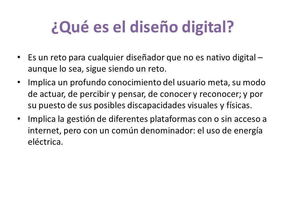 ¿Qué es el diseño digital.