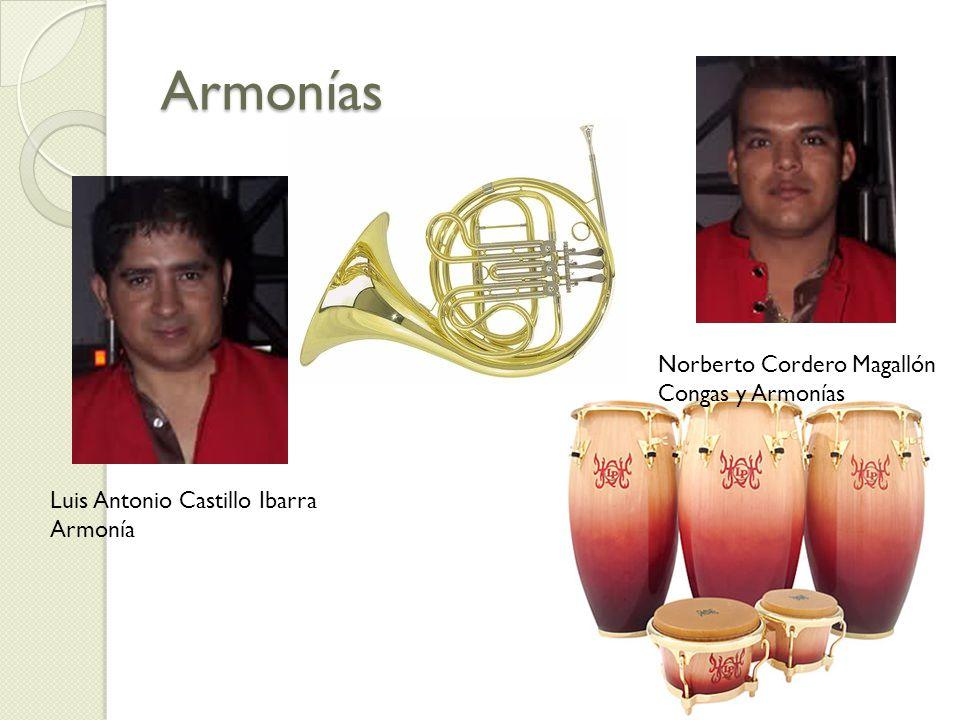 Armonías Luis Antonio Castillo Ibarra Armonía Norberto Cordero Magallón Congas y Armonías