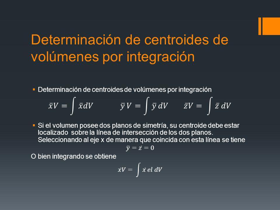 Determinación de centroides de volúmenes por integración