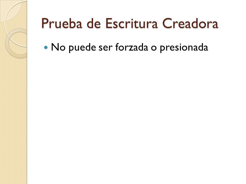 Propósito de la Prueba Evaluar los siguientes criterios: Originalidad- habilidad que tiene el estudiante para presentar sus ideas de forma novedosa.