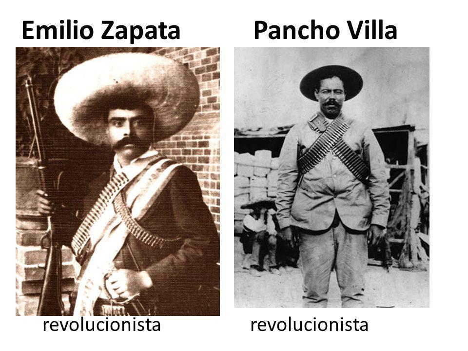 Emilio Zapata Pancho Villa revolucionista revolucionista