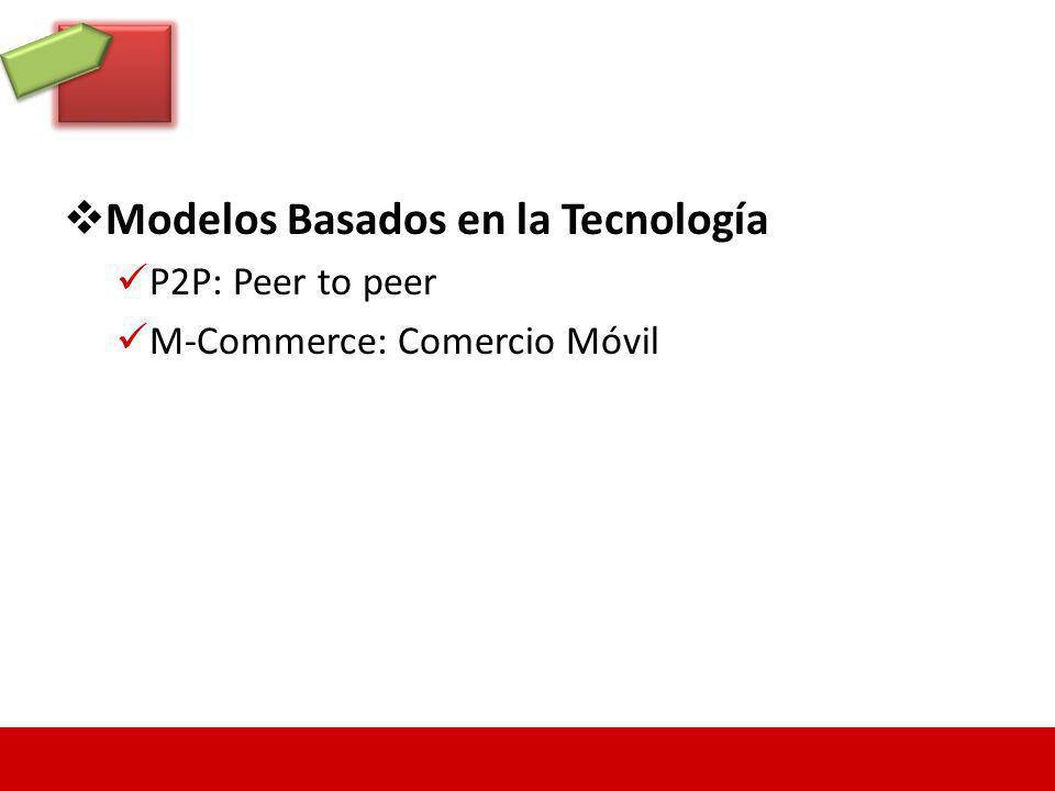 Modelos Basados en la Tecnología P2P: Peer to peer M-Commerce: Comercio Móvil