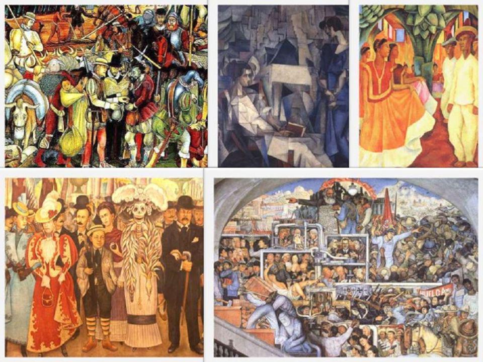 En 1921, a través del comunismo, Rivera comenzó a expresar sus ideas artísticas en México, su gente y su historia, iniciando una serie de murales en edificios públicos.