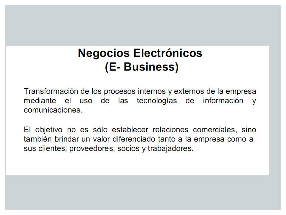 El e-Business incorpora el uso estratégico de las tecnologías de la información y la comunicación, conocidas como TIC´S (incluyendo, pero no limitándose a Internet ) para interactuar con clientes, proyectos y socios a través de la comunicación múltiple y los canales de distribución.